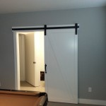 Using space well with this barn door in game room (with Goldberg Brothers Barn Door hardware)
