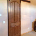 Goldberg Brothers Barn Door hardware with closed arched door