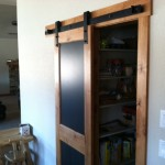 This pantry chalkboard door provides a nice rustic feel with Goldberg Brothers Barn Door Hardware
